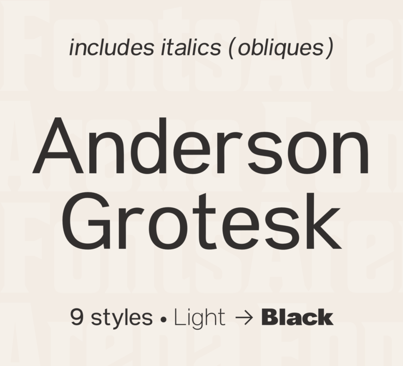 Anderson Grotesk by Stephen French