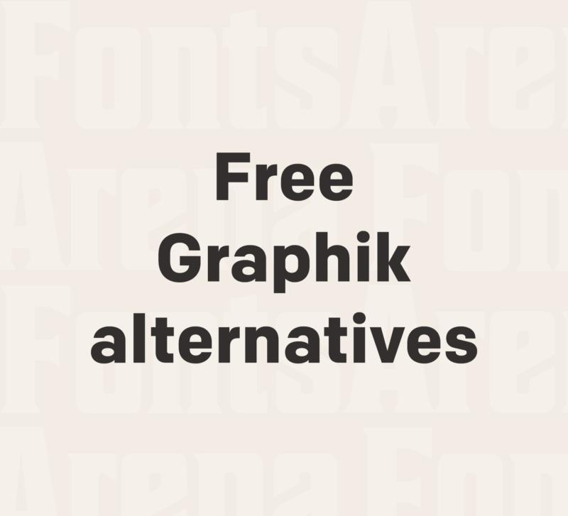 Free Graphik font alternatives