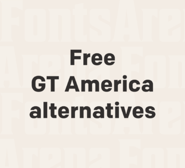 Free GT America font alternatives
