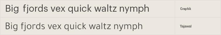Tajawal free font alternative to Graphik