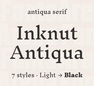 Inknut Antiqua by Claus Eggers Sørensen