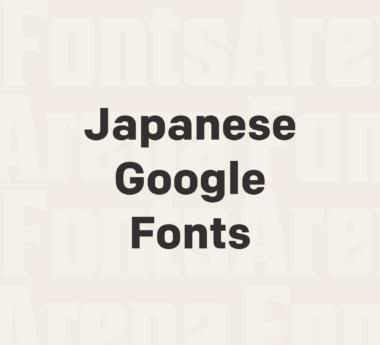 Japanese fonts added on Google Fonts
