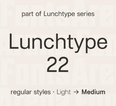 Lunchtype 22 by Stefan Wetterstrand