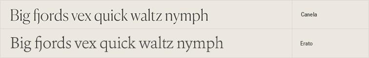 Erato free font alternative to Canela