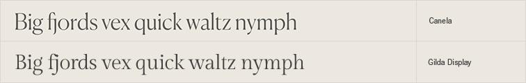 Gilda Display free font alternative to Canela