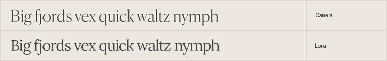 Lora free font alternative to Canela