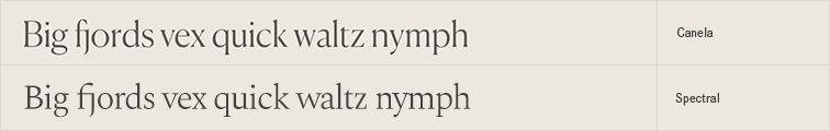 Spectral free font alternative to Canela
