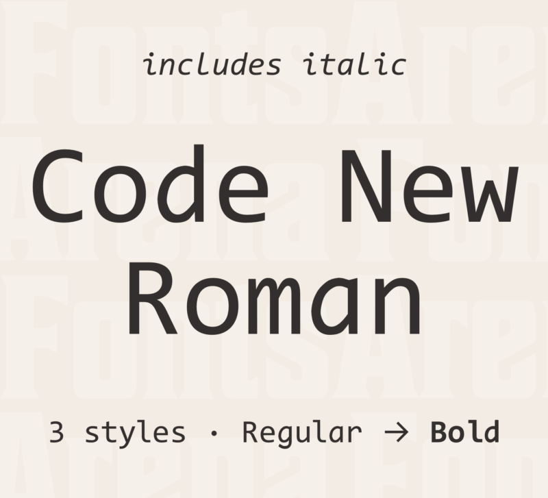 Code New Roman by Sam Radian
