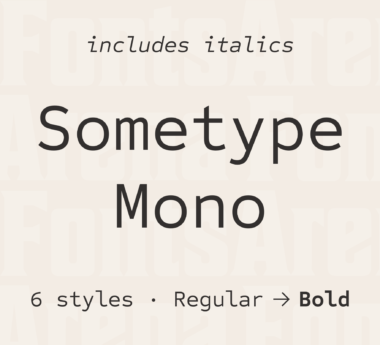 Sometype Mono by Ryoichi Tsunekawa