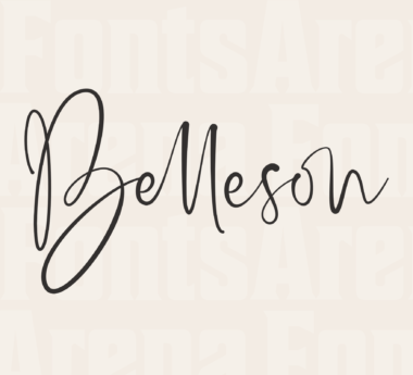 Belleson by Haksen Letters