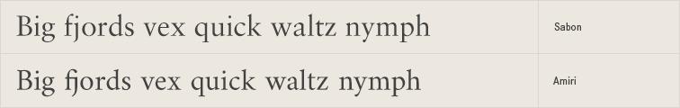 Amiri free font alternative to Sabon