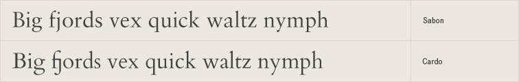 Cardo free font alternative to Sabon