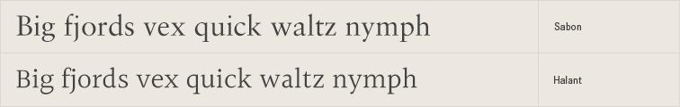 Halant free font alternative to Sabon
