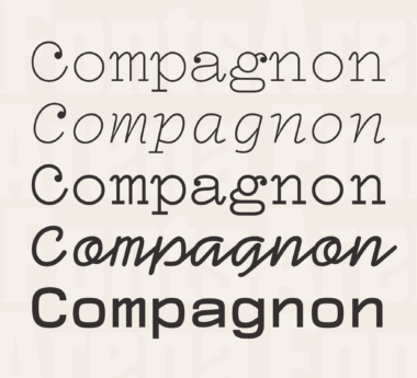 Compagnon by Velvetyne Type Foundry