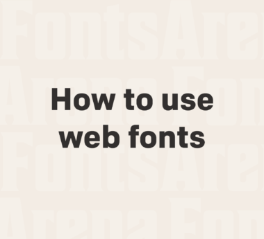 How to use web fonts