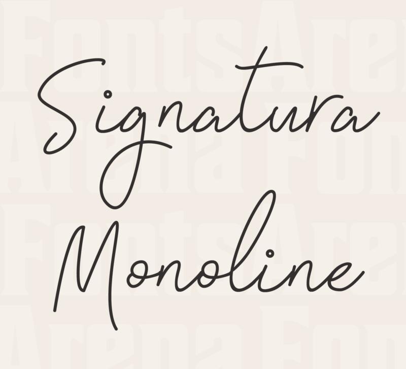 Signatura Monoline by Ian Mikraz
