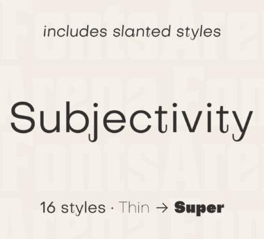 Subjectivity by Alex Slobzheninov
