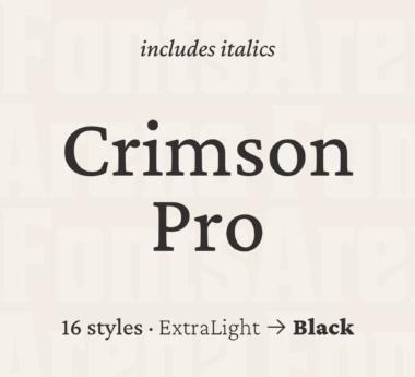 Crimson Pro by Sebastian Kosch & Jacques Le Bailly