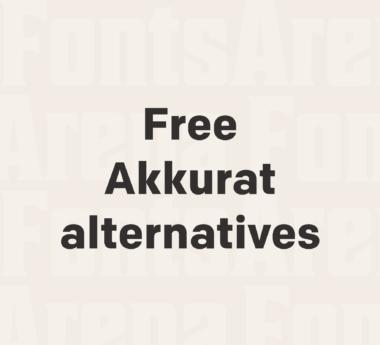 Free Akkurat font alternatives