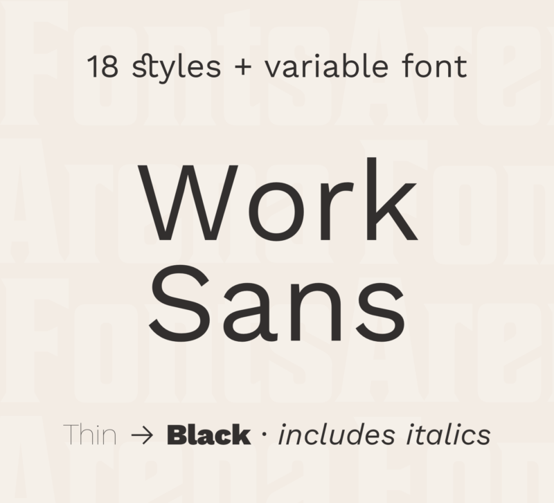 Work Sans by Wei Huang