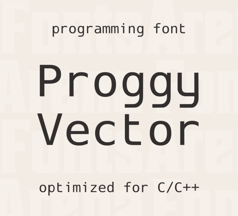 Proggy Vector by Tristan Grimmer