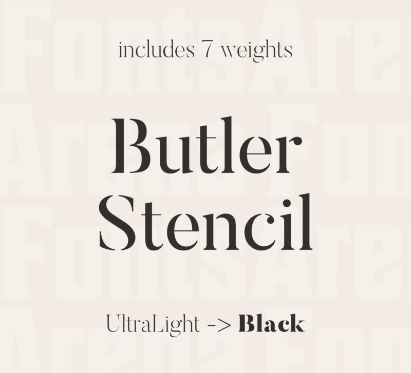 Butler Stencil by Fabian De Smet