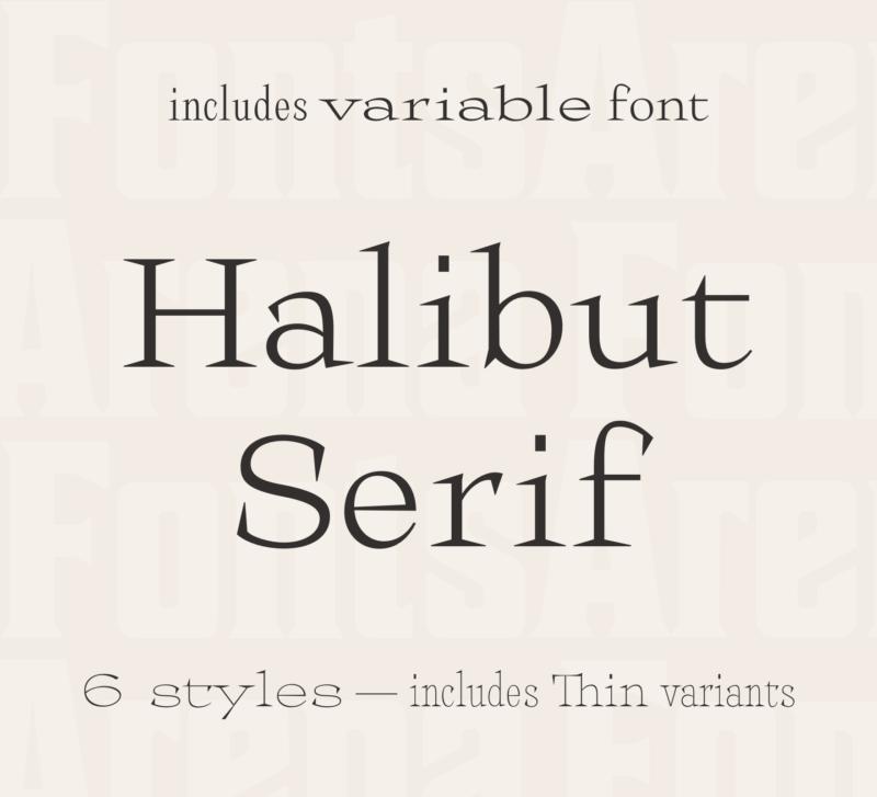 Halibut Serif by Collletttivo
