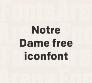 Notre Dame free icon font