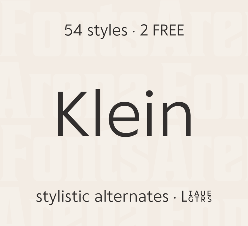 Klein by Zetafonts