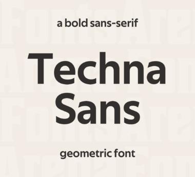 Techna Sans by Carl Enlund