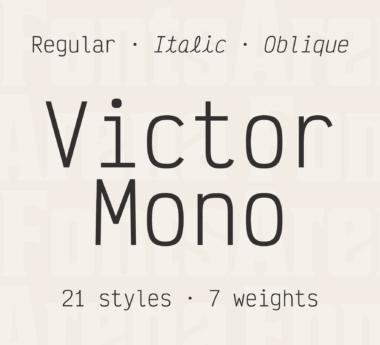Victor Mono by Rune B