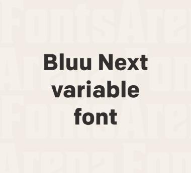 Bluu Next variable font