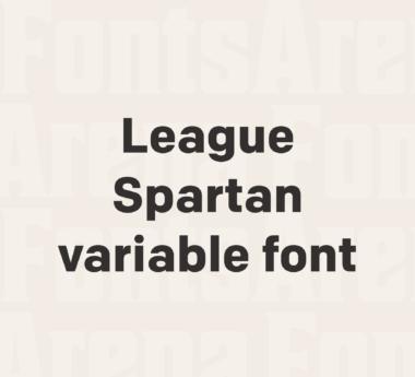 League Spartan variable font