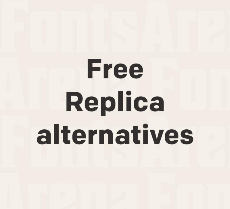 Free Replica font alternatives