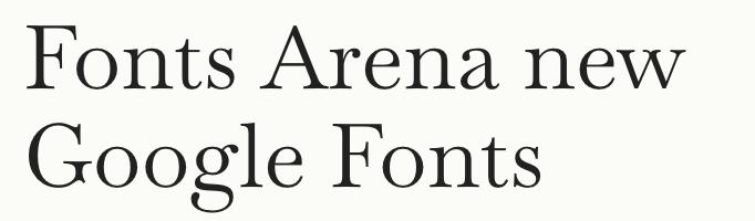 Baskervville free font