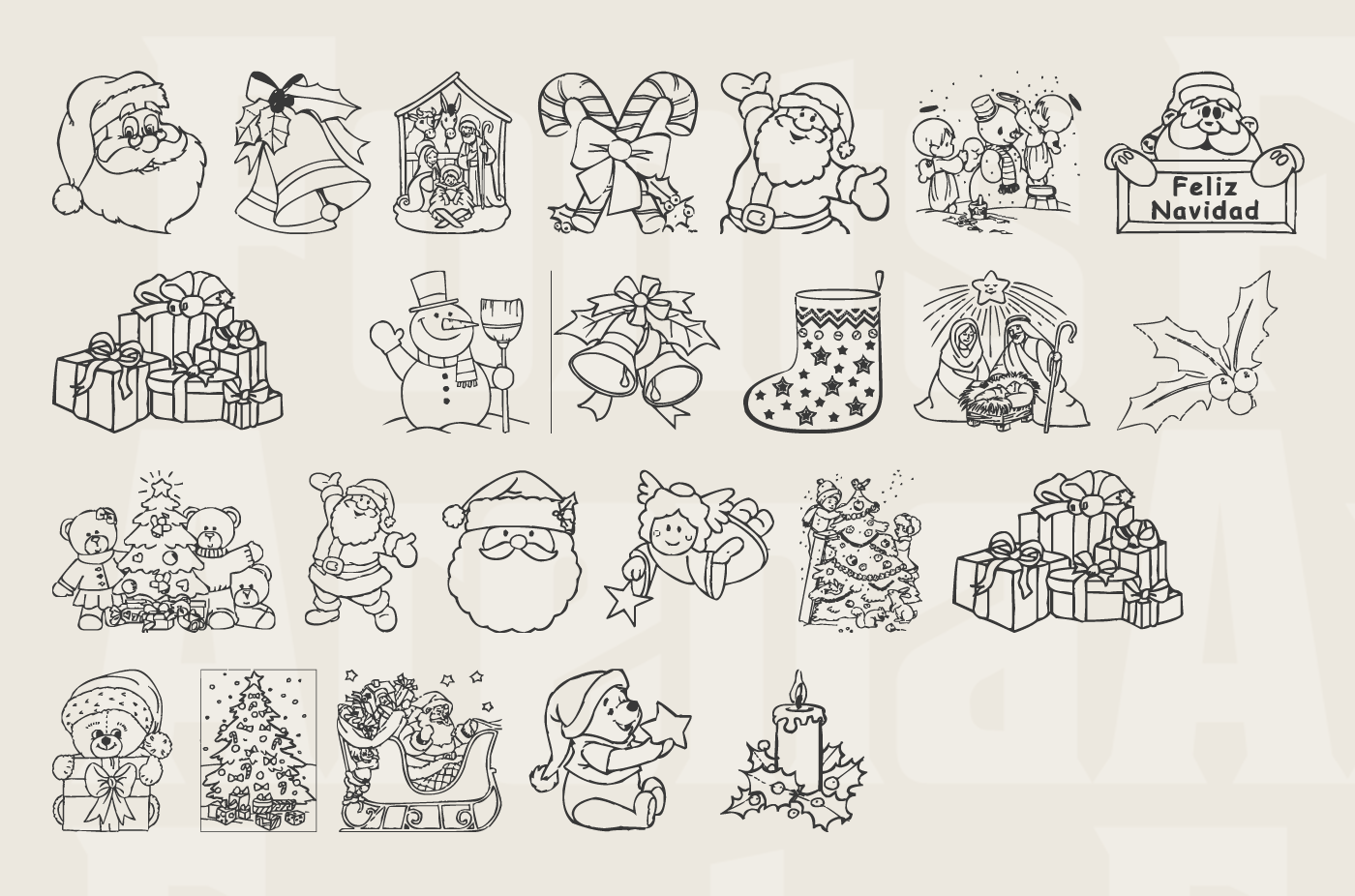 Christmas free icon font