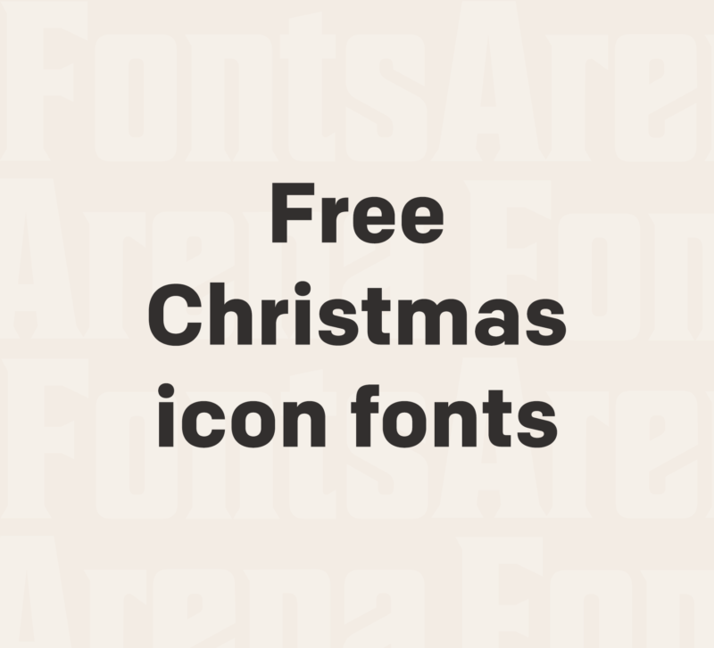 Christmas icon fonts free for commercial use