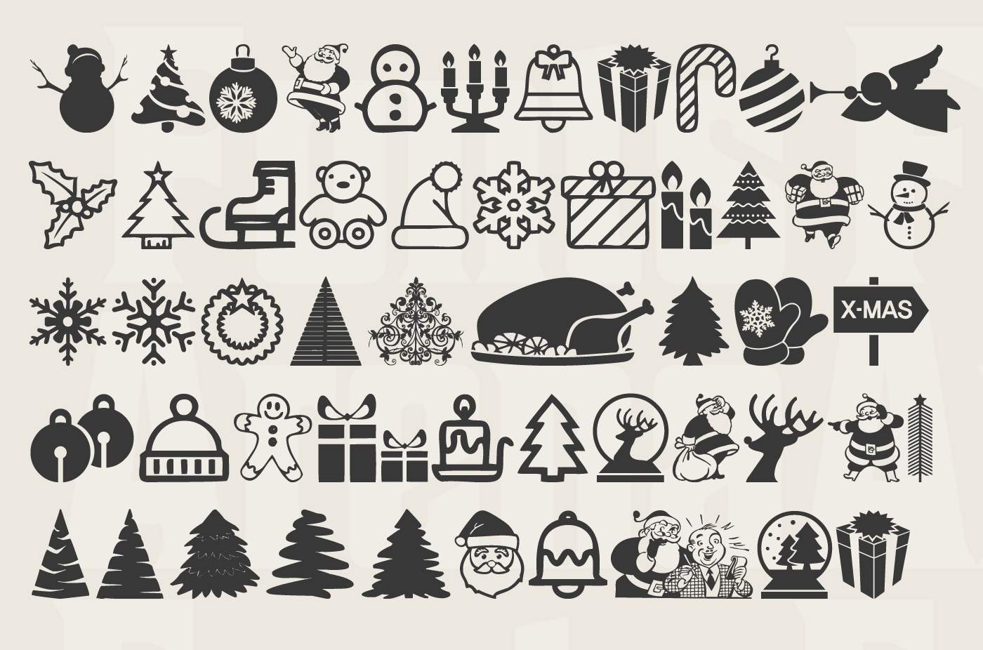 Christmas Icons free font