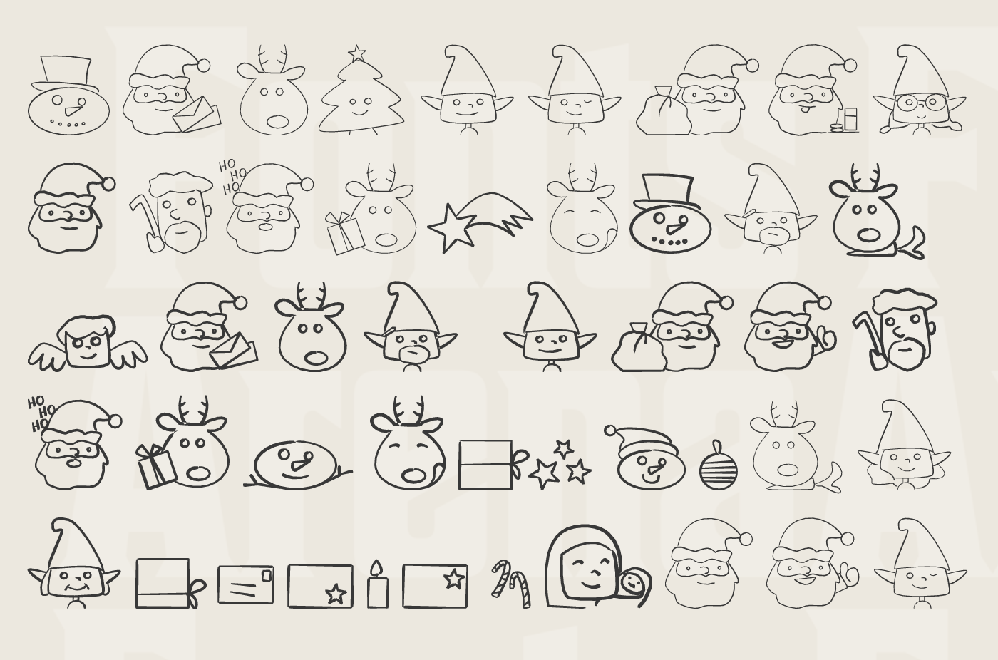 Christmas People Ding free icon font