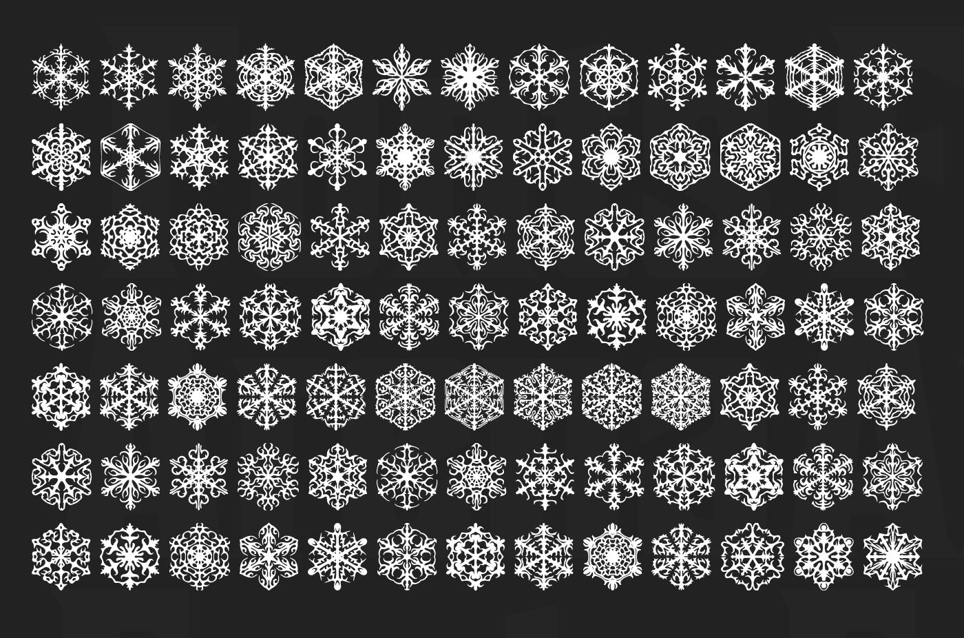 Faux Snow free icon font