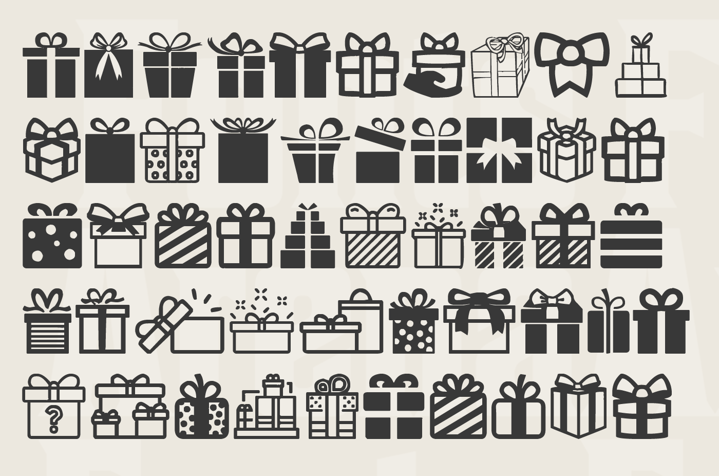 Gift Icons free font