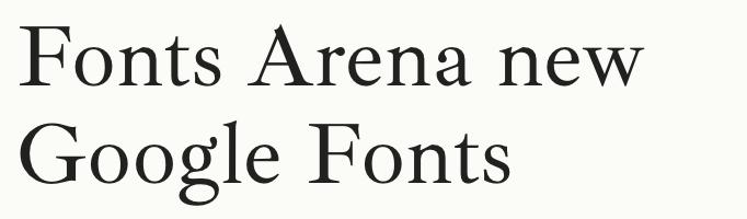 Ibarra Real Nova free font
