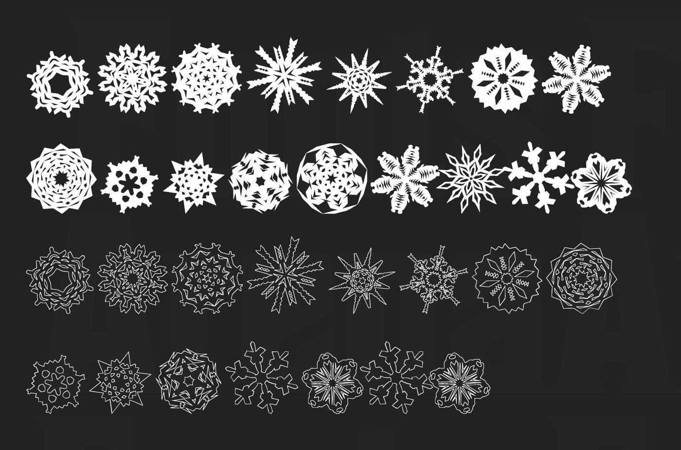 Paper Snowflakes free icon font