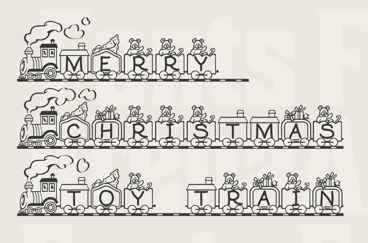 Toy Train free icon font