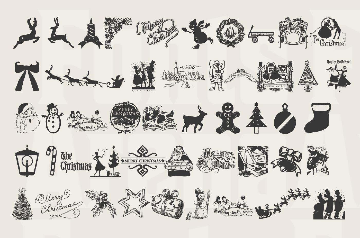 Vintage Christmas free icon font