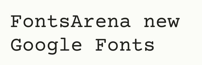 Courier Prime free font