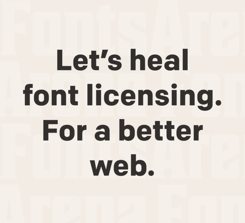 Font licensing is ill, please help heal it