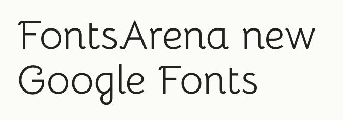 Bellota free font
