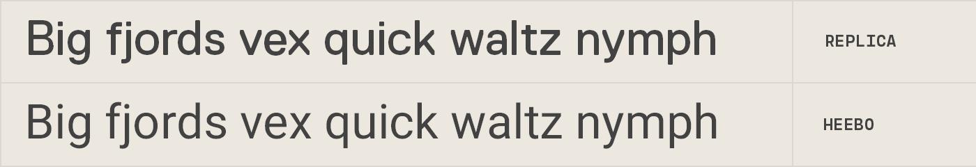 Heebo free font alternative to Replica